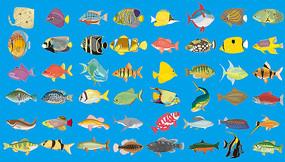 卡通鱼类素材