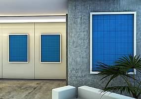 室内客厅展厅海报贴图模板