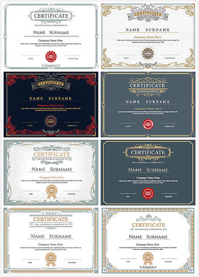外国证书设计矢量eps