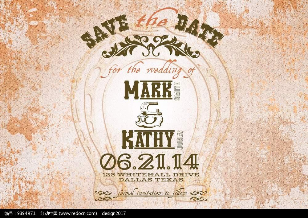 欧美风格浪漫结婚婚礼迎宾牌迎宾海报设计模板图片