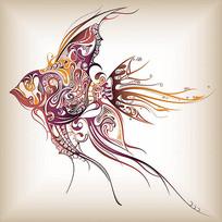 神仙鱼印花图案