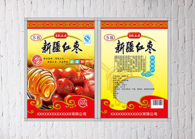 蜂蜜红枣包装袋设计