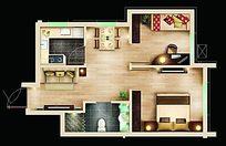 家庭平面户型图模板