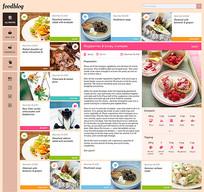 外国食物网站模板