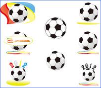 矢量足球素材