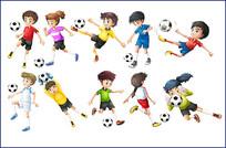足球运动卡通