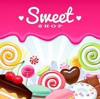 矢量糖果图片