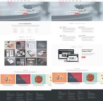 欧美时尚网页整套模板